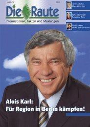 Alois Karl: Für Region in Berlin kämpfen! - CSU Neumarkt