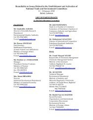 List of Participants - Economic and Social Commission for Western ...