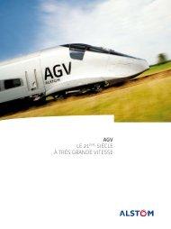 AGV, Automotrice à très grande vitesse - Alstom