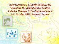 Expert Meeting on ESCWA Initiative for Promoting The Digital Arabic ...