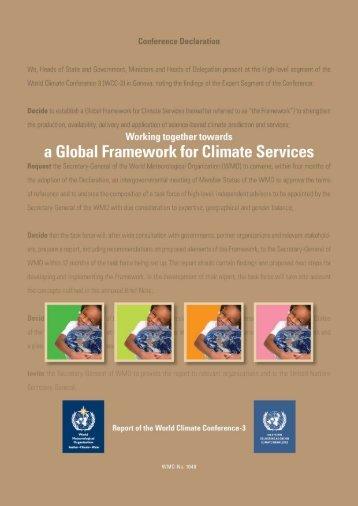 WCC-3 summary report (pdf) - WMO