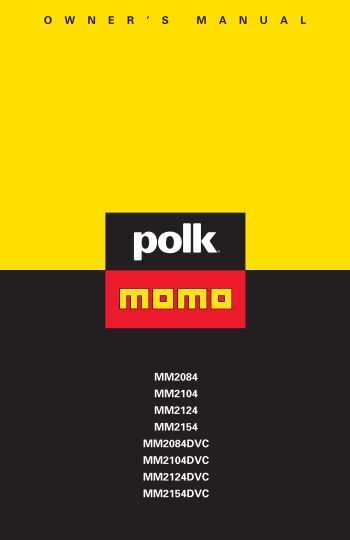 owner ' smanual mm2084 mm2104 mm2124 mm2154 ... - Polk Audio