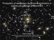 Production of secondary neutrinos and photons in cosmic-ray ... - cta
