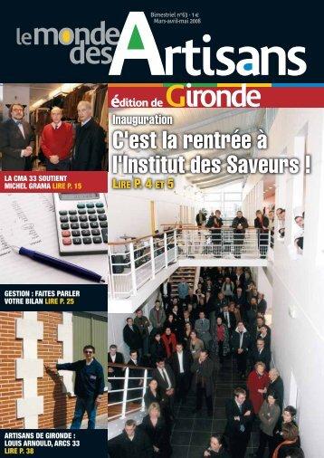 N°63 - Mars- Avril - Mai 2008 - Chambre de métiers et de l'artisanat