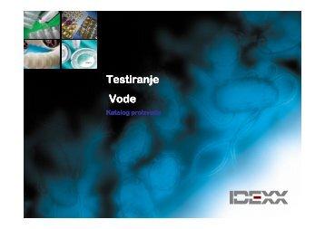 IDEXX VODA katalog proizvoda - Bosna Vet