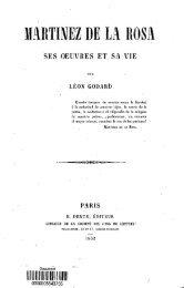 Martinez de la Rosa, ses oeuvres et sa vie - Bibliothèque numérique ...