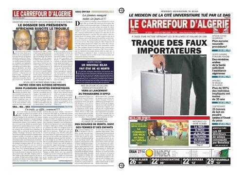 Traque Des Faux Importateurs Le Carrefour D Algerie
