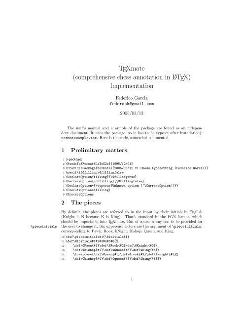 TEXmate (comprehensive chess annotation in LATEX     - Dante FTP