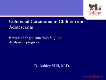 Colorectal Carcinoma in Children and Adolescents - Cancer ...