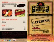 Salt Creek BBQ Catering Menu - Salt Creek Barbecue, 630-534 ...