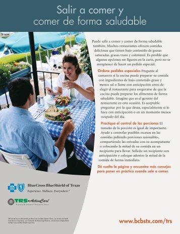Salir a comer y comer de forma saludable - BCBSTX.com