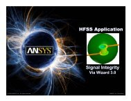 Signal Integrity Via Wizard 3.0 - Ansys