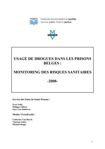 usage de drogues dans les prisons belges ... - Modus Vivendi