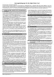 Nutzungsbedingungen für die Allgäu-Walser-Card