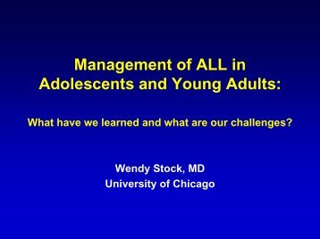 Treatment Insights in ALL: What Have We Learned from the AYA ...