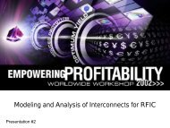 Presentation - Modeling and Analysis of  Interconnects for RFIC