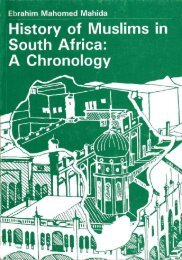 History of Muslims in South Africa : a chronology