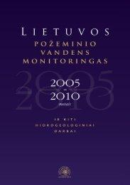 Lietuvos požeminio vandens monitoringas 2005-2010 m.