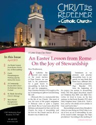 An Easter Lesson from Rome On the Joy of Stewardship - Christ The ...