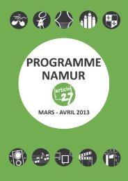 programme Namur mars-avril 2013 - Article 27