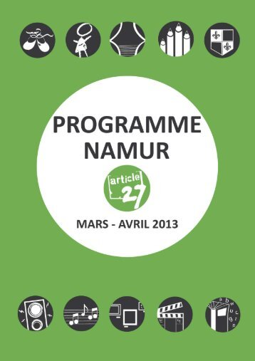 programme Namur mars-avril 2013 - Article 27