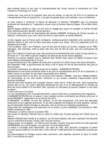 Lire le discours du Président de la communauté, M. Bertrand Weil