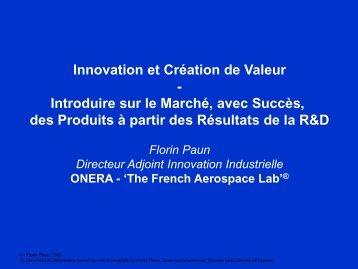 Innovation et création de valeur - EdF R&D