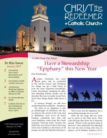 this New Year - Christ The Redeemer Catholic Church