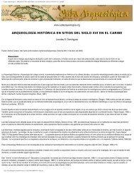 Arqueología Histórica en sitios del siglo XVI en - Cuba Arqueológica