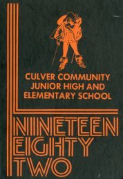 Culver Elementary - Jr High yearbook 1982-1