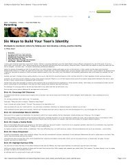 Six Ways to Build Your Teen's Identity - Focus on the Family