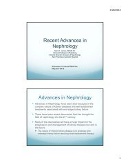 Recent Advances in Nephrology Pearls & Pitfalls in Emergency ...