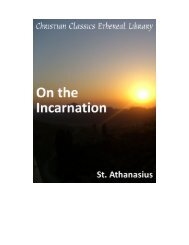 Pdf copy of St. Athanasius on the Incarnation - Christ United ...