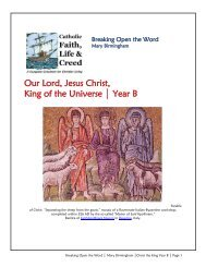 Our Lord, Jesus Christ, King of the Universe Year B - TeamRCIA