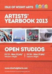 ARTISTS' YEARBOOK 2013 OPEN STUDIOS - Isle of Wight Arts