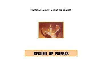 RECUEIL DE PRIERES - Sainte Pauline