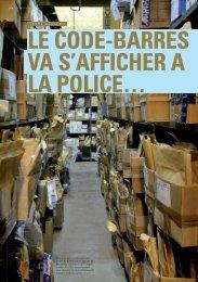 Saisies judiciaires Le code-barres va s'afficher à la police...