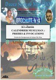 Calendrier Musulman: Prières et Invocations - association des ...