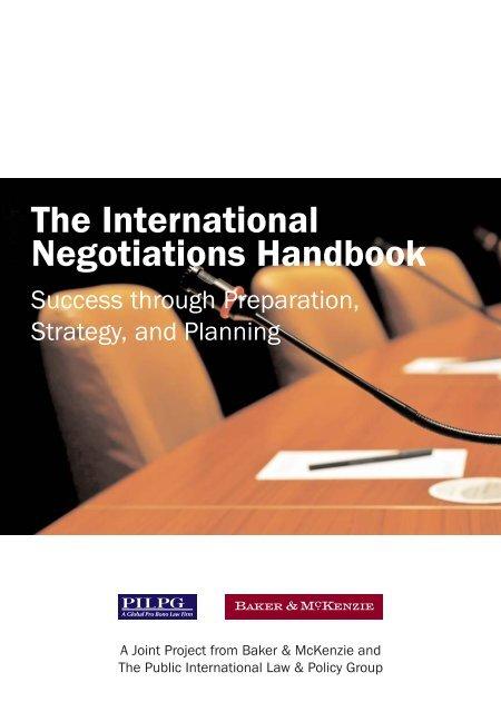 The International Negotiations Handbook - Baker & McKenzie