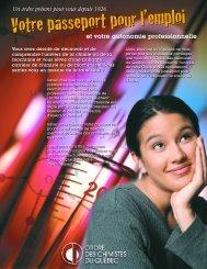 Votre passeport pour l'emploi - Ordre des chimistes du Québec