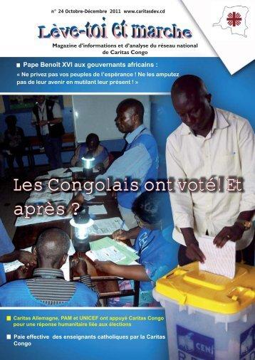 Les Congolais ont voté! Et après ? - Caritas Goma