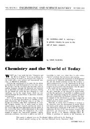 Chemistry and the World Today - Engineering & Science - California ...