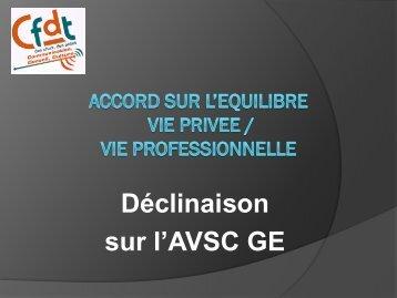 ACCORD SUR L'EQUILIBRE VIE PRIVEE / VIE PROFESSIONNELLE