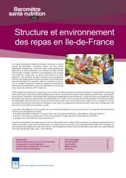 Structure et environnement des repas en Ile-de-France