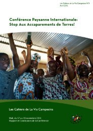 Téléchargez le rapport ici - La Via Campesina
