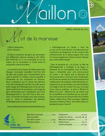 Téléchargez Maillon Juillet 2013 - Ville de Pohénégamook