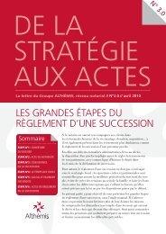 les grandes étapes du règlement d'une succession - Althémis
