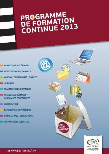 Téléchargement du catalogue - Chambre de métiers d'Ille-et-Vilaine
