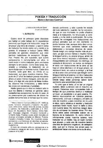 Poesía y traducción - Centro Virtual Cervantes