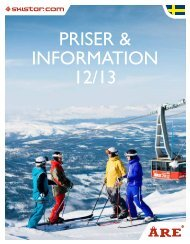 Priser & Information 2012-2013 - Skistar